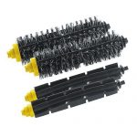 2 Bristle Brush and 2 Flexible Beater Brush for iRobot Roomba 600 700 Series